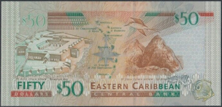 East Caribbean States Paper Money 50 Dollars 2003