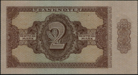 Germany DDR Paper Money 2 Mark 1948