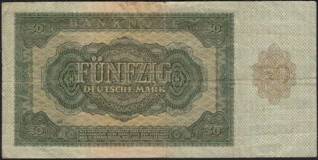 Germany DDR Paper Money 50 Mark 1948