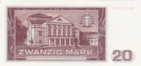 Germany DDR Paper Money 5 Marks 1964