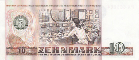 Germany DDR Paper Money 10 Marks 1971