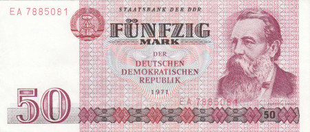 Germany DDR Paper Money 50 Marks 1971