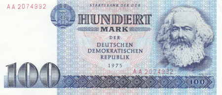 Germany DDR Paper Money 100 Marks 1975
