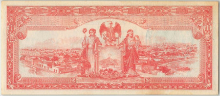 Mexico Paper Money 5 Pesos 1915